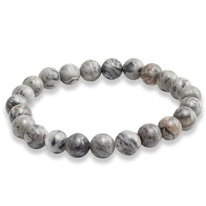 Fashion Natural Stone Beads Bracelets For Men Women Black Matte Beads