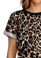 Women Summer T shirt 2019 Fashion Leopard T Shirt Short Sleeve Casual Tops Tees Plus Size Sexy Streetwear T-shirt Camisas Mujer