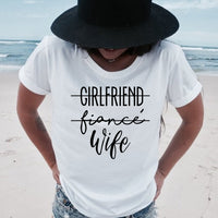 Girlfriend Fiance Wife T-Shirt Future Mrs Tumblr Tee Engagement Gift Fiance Shirt Bachelorette Party Tops Trendy Casual Tshirts