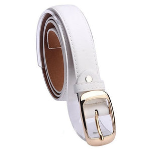 Female Belt Cummerbund Women Horsehair Belt With Leopard Pattern Rose Gold Metal Buckle Women Pu Belt