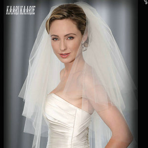 Elegant Women White Veil short bride wedding veils two layer with comb 2019