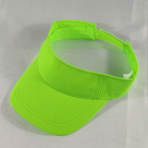 Orange Lime or Neon Green Mesh Sun Visor Caps Men Women Plain Adjustable Sport Visors Golf Tennis Running Jogging Hiking Camping