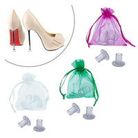 90 Pairs / Pack High Heel Protectors Silvery Heel Stoppers For Stiletto Heels