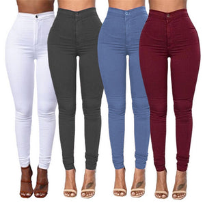 Female Trousers 2019 High Waist Stretch Slim Pencil Trousers Women Clothing Pants Sexy Women Lady Plus Size Skinny Pants S-3XL