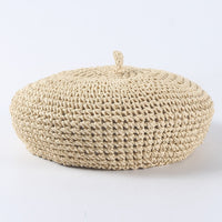 2019 New Handmade Women Berets Female Straw Hats For Spring Autumn Girl Flat Cap Knit Black Beret Gifts For Woman Wholesale