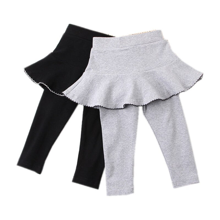 girls black casual skinny skirt pants children fashion solid tutu pant legging clothing
