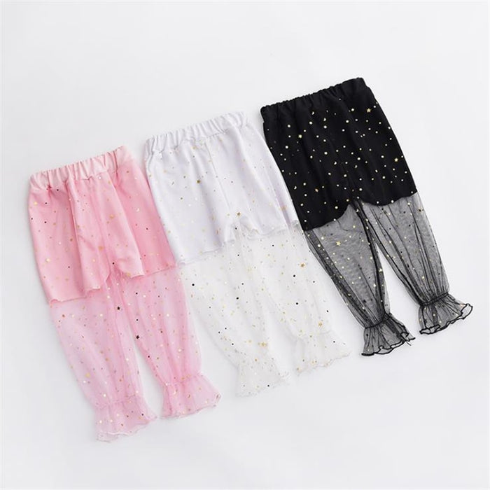 Baby Summer Anti-mosquito Pants Mesh Lantern Pants Kids Fashion Clothes Children Trousers Cute Teens Girls Clothing Size 6 years