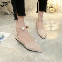 2019 New Women Suede Flats shoes Fashion Basic Pointy Toe Ballerina Ballet