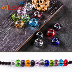 Colorful Glass Beads For Hair Extension Dreadlock Beads Hair Jewelry