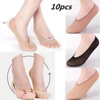 10 Pairs New Girls Women Loafer Boat Socks Low Cut Invisible Ballerina Socks