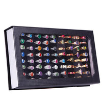 Fashion Rectangle Jewelry Display Tray Holder 72 Holes Rings Storage Case Box hot