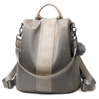 Women Backpack Purse Waterproof Nylon Anti-theft Rucksack Lightweight School Shoulder Bag Leather Mini Backpack