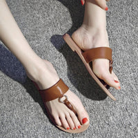 Brand New Leather Shoes Women Flat Sandals Comfortable Beach Shoes