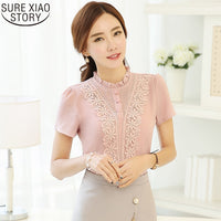 2019 New Arrival Fashion Style Women Blouses Sweet Cute Lady Blouses