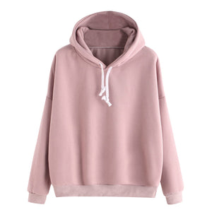 Free Ostrich Sweatshirts For Women 2019 Pink women's Gown Hoodies Ladies Solid Long Sleeve Casual Hooded Harajuku Clothes C1935
