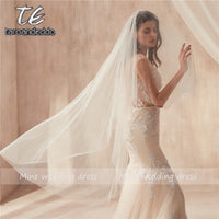 1.5M Two Layers White/Ivory Pearl Veil with Accessories Veu de Noiva