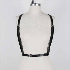 CEA.HARNESS New Sexy Women Men Leather Belts Slim Body Bondage Cage Sculpting Fashion Punk Harness Waist Straps Suspenders Belt