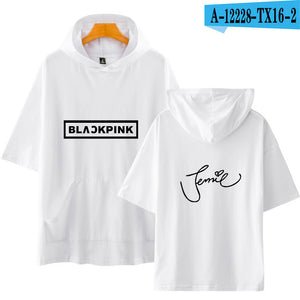 Blackpink Modis Hoodies T-shirt Unisex Hoodies Short Sleeve Cool Summer/Autumn Fashion Casual Shirt Plus Size XXS-4XL