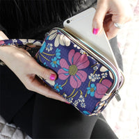 3 Zipper Women Waterproof Purse Cell Phone Pouch Handbag Wallet Wristlet Bag 2018 New Fashion Beauty heart/ Stars/ Hearts/ Bags