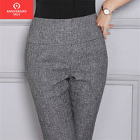 2019 Casual Female trousers Women High Waist Trousers Office Lady Work Straight