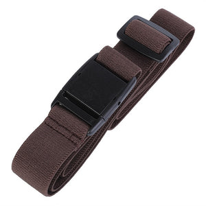 AWAYTR Women Invisible Belt Elastic Adjustable Belt for Jeans Men's Automatic Buckle Belt Canvas Elastic Waist Belt Waistband