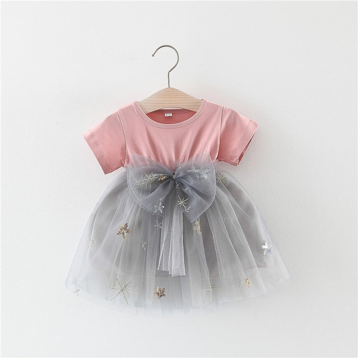Summer Bow Baby Girls Dress Newborn Baby Dresses for Girl Princess Lace First Birthday Girl Party Dresses Baby Outfits Clothes