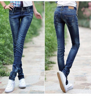 2018 Fashion Sexy pencil pants slim fit Spring Summer jeans woman Low waist skinny