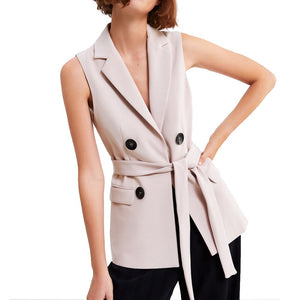 2018 office women lady Women's Causal Vest lapel collar Sleeveless Jacket