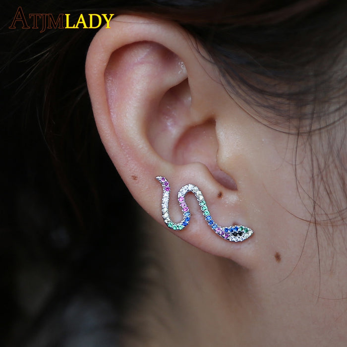 Earing Aros Fashion Elegant Earrings For Women Ear Climbers Tiny Jackets Snake