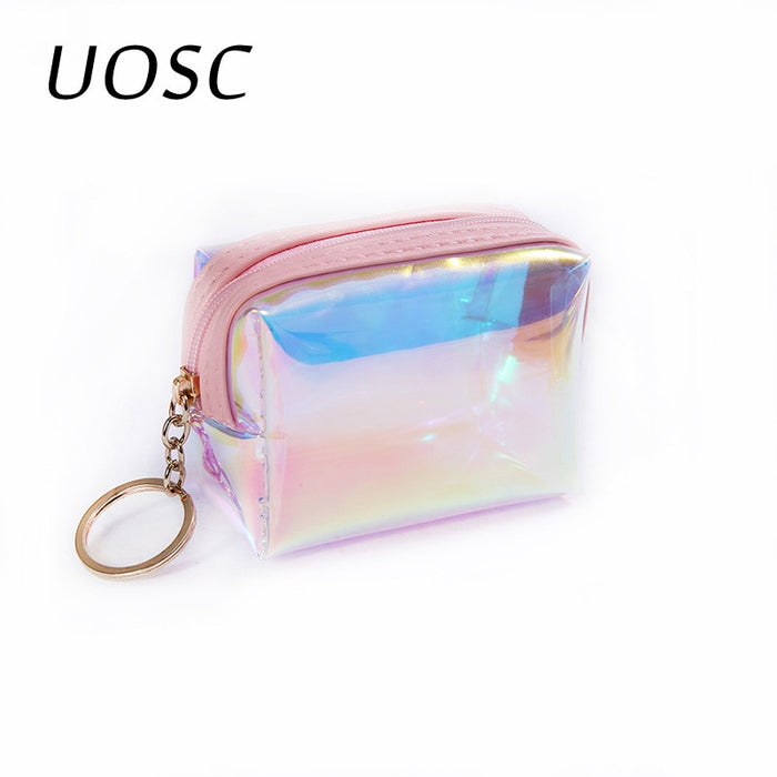 UOSC Trend Women Small Wallet Card Holder Zipper Coin Purses Clutch