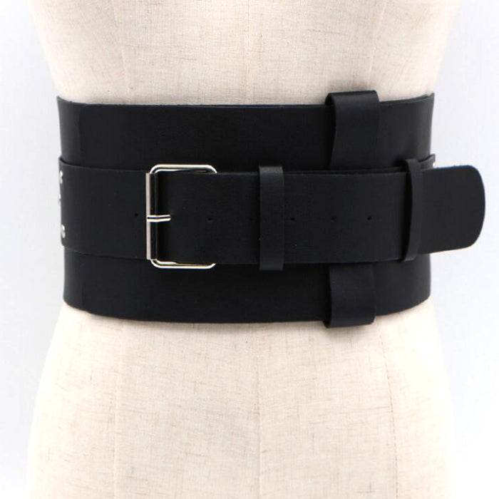 Fashion brand Corset Belt For Women tie Double layer Belts Plus wide Female Black color Waistband Belts for Dress Accessories