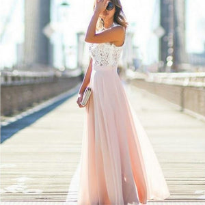 Stylish Pink Long Prom Dresses 2019 Cheap Prom Dress Women