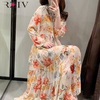 NEW Stylish Strap Maxi Holiday Dress Female High Waist Shirt Dress Vestidos