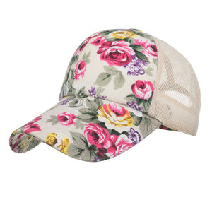 Feitong 2019 Women Flower Embroidery Caps Women Girl Sun Hats Casual Snapback Caps Women Baseball Cap
