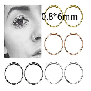 Cartilage Hoop Tragus Earrings for Women Men Nose Ring