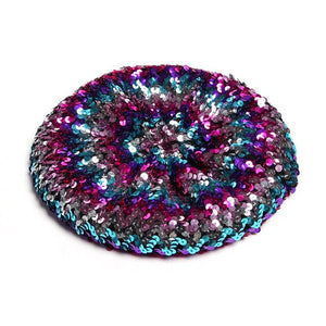 Stretch  Shining Sequins Berets Women Autumn Spring Summer Hats Mix Color Party Show Advertising Caps