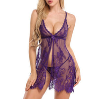 Ladies Lace Sleepwear Babydolls Women see though porno Lingerie Ropa Sexy Para