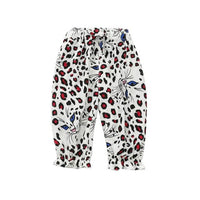 Spring Fashion Children Boy Girl Leopard Print Harem Pants Trousers Toddler Long Casual Bottoms