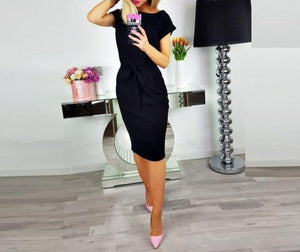 Sleeve Loose T Shirt Dress For Ladies 2019 Summer Dress Women Plus Size