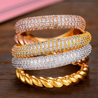 Design Luxury Twist Stacks Stackable Rings For Women Wedding  Engagement