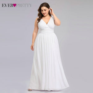 Plus Size Prom Dresses Long 2019 Ever Pretty Elegant Printed A-line V-neck