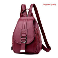 atinfor Brand Anti Theft Women Leather Backpacks Purse Vintage Female Shoulder Bag Travel Small Backpack Lady