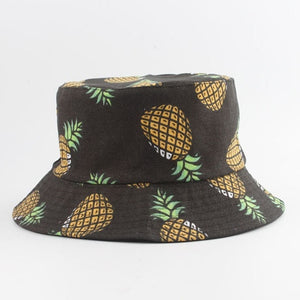 Panama Bucket Hat Men Women Summer Bucket Cap Banana Print Bob Hat Hip Hop Gorros Fishing Fisherman Hat