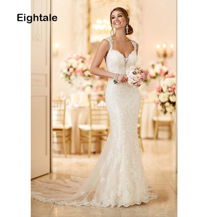 Eightale Mermaid Wedding Dresses 2019 Lace Sweetheart
