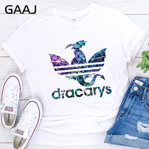 2019 Game Of Thrones Dracarys Tshirt t shirt Women Mother Of Dragons Shirt Womens T-Shirts King Queen Girls Friends Mon Gift Tee