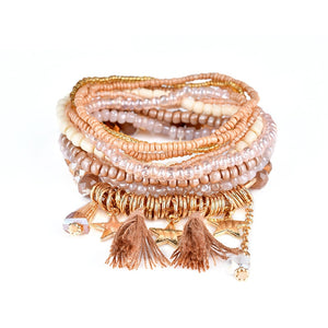 16 Design 2019 Bohemian Ethnic Multilayer Vintage New Beads Bracelets Boho