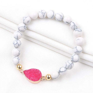 Colorful Crystal Charms Druzy Bracelets for Women Gifts 2019 New Adjustable