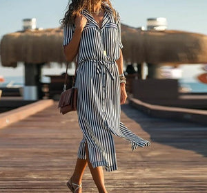 Spring Women's Boho Casual Long Maxi Evening Party  Beach Dress Sundress
