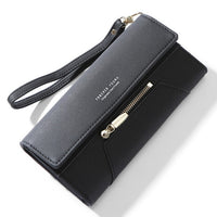 Forever Young Wristlet Clutch Wallet Women Many Departments Female Wallet Zipper Designer Ladies Purse Handbag Cell Phone Pocket