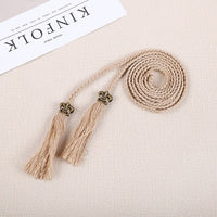 Women's Weave Belt Women Dress Decoration Belt Female Hemp Rope Thin  Braid Belt Fashion Ladies Casual Waistbands